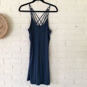 American Eagle Criss Cross Back Swing Dress